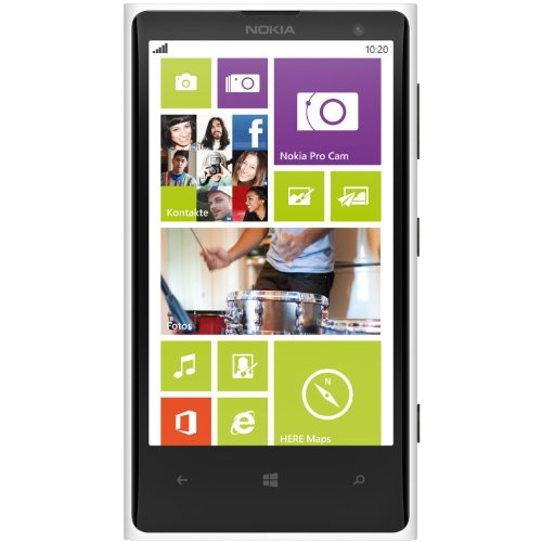 "Nokia Lumia 1020 32GB Unlocked GSM Phone w/ 41MP Camera 4.5"" - White - International Version, No Warranty"