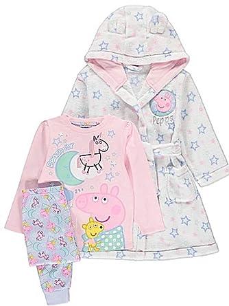 61354c27a Peppa Pig Girls Fleece Hooded Dressing Gown   Pyjamas Robe (Age 4-5 Years