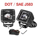 LED Pods, Offroad Town 2pcs 3'' SAE Fog Lights Off road Driving lights Waterproof LED Cubes OSRAM Work Light for Truck Jeep Motorcycle ATV UTV Boat, 3 Year Warranty