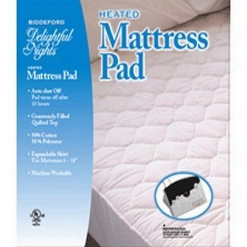 Biddeford heated mattress pad cotton/poly, CALIFORNIA KING.