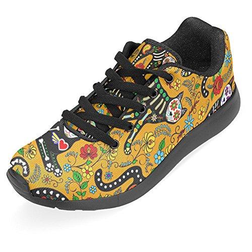 Interestprint Mujeres Jogging Running Sneaker Ligero Go Easy Walking Casual Comfort Deportes Zapatillas De Running Multi 10