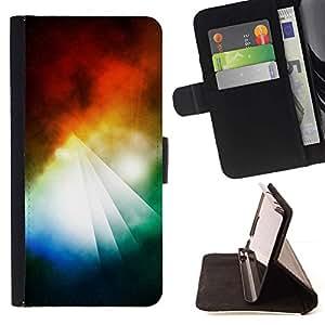 For Sony Xperia Z5 (5.2 Inch) / Xperia Z5 Dual (Not for Z5 Premium 5.5 Inch) Case , Pirámide abstracto colorido- la tarjeta de Crédito Slots PU Funda de cuero Monedero caso cubierta de piel