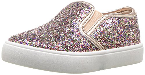 carter's Girls' Tween Casual Slip-On Sneaker, Rose Gold, 7 M US Toddler