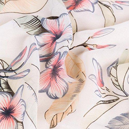 Large Respirant Écharpe Gris Classique Satin Mode 2018 Pofusion Été Chic Foulard 8 Doux Fleurs Aivtalk Impression Soie Femme Élégant Couleurs x68vwqz