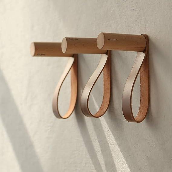 Ganchos de madera natural para colgar en la pared Colgadores de estilo vintage para colgar sombreros y manualidades