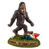 BigMouth Inc. Sasquatch the Gnome Wrecker Garden Statue, 9-inch Tall Funny Lawn Gnome, Perfect for Gardens