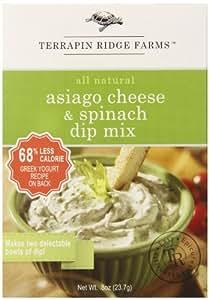 Terrapin Ridge Farms Dip Mix, Asiago Cheese Spinach, 1 Ounce (Pack of 8)