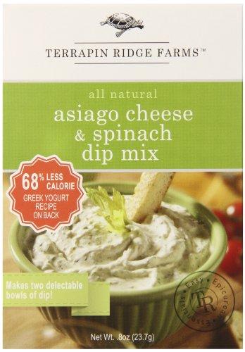 Terrapin Ridge Farms Dip Mix, Asiago Cheese Spinach, 1 Ounce (Pack of 8) -