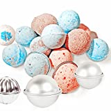 Big Bath Bomb Molds DOYOLLA 3 Set 6pcs LARGE SIZE Metal Bath Bomb Soap Making Molds DIY Bath Fizzies Favor