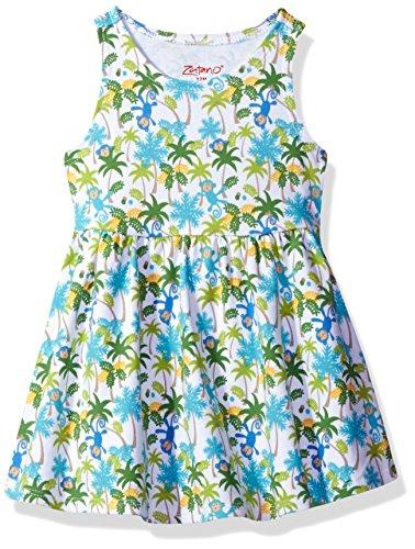 (Zutano Baby Girls' Tank Dress, Monkey Jungle, 12M (6-12 Months))