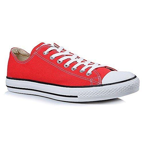 Converse Unisex Chuck Taylor All Star Ox Low Top (rosso) Scarpe Da Ginnastica - 4 D (m) Us
