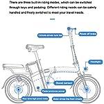 Folding-Bike-Elettrico-Display-LCD-400W-Del-Motore-Velocit-Massima-25-Km-H-Sedile-Regolabile-Portable-Bicicletta-Pieghevole-Sport-Allaria-Aperta-Ciclismo-Work-Out-E-Il-PendolarismoWhite-60km