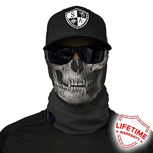 Salt Armour Tactical Face Shield | Black Skull