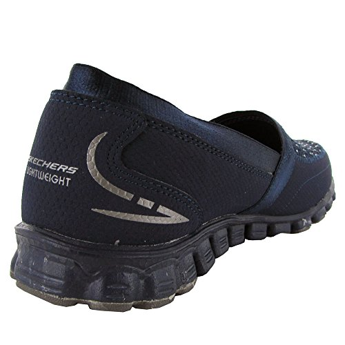 Skechers para mujer Ez Flex Dos Pasos 22619 Slip-en la zapatilla de deporte Navy