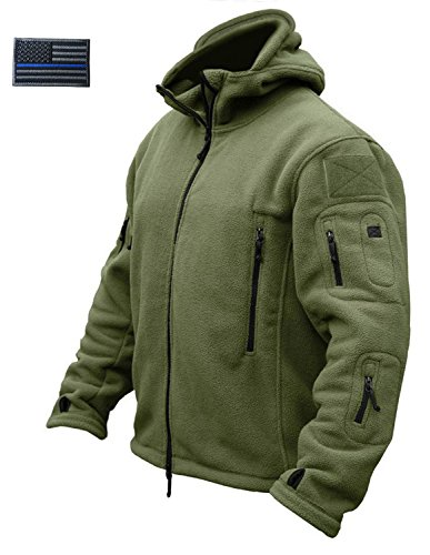 CRYSULLY Men Spring Long Sleeve Hunting Military Trekking Hiking Jackets Outwear Adventure Coat