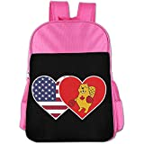 Starogs Children's Schoolbag USA Flag Canada Boxing Beaver Light Weight Backpack Satchel Lunch Bag