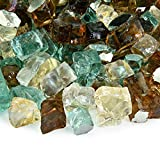 Irish Roast - Fire Glass Blend for Indoor and Outdoor Fire Pits or Fireplaces | 10 Pounds | 1/2 Inch, Reflective