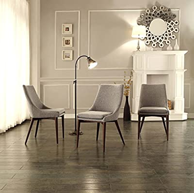 Homelegance 5048S Fabric Accent/Side Chair, Grey, Set of 2