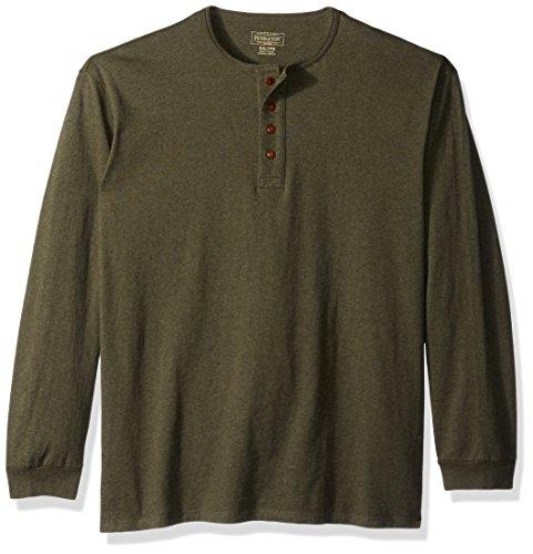 Pendleton Men's Deschutes Henley Shirt, Yakima Green Heather, XXL (Heather Yakima)