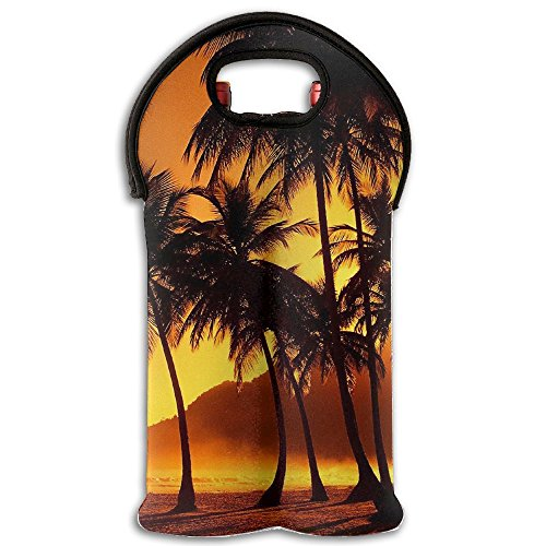 Costume Drama Movies Youtube (3D Pattern Palm-Tree-Wallpaper 100% Polyester Stainless Steel Foldable Insulated Neoprene Double Bottle Wine Tote)