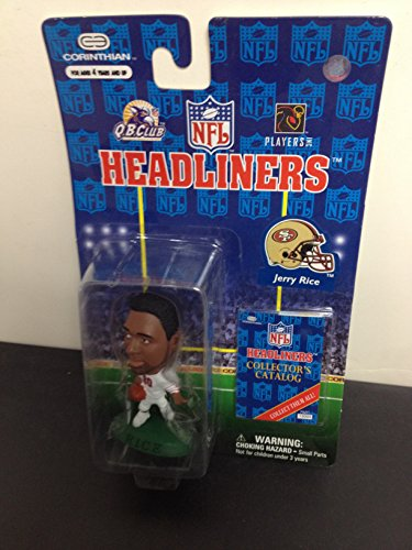 San Francisco 49ers Collectors - 1997 Jerry Rice San Francisco 49ers NFL Football Figure by Headliners with collectors catalogue