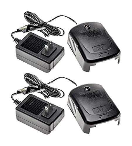 Black & Decker 18 Volt Replacement (2 Pack) Battery Charger # 90513708-2pk