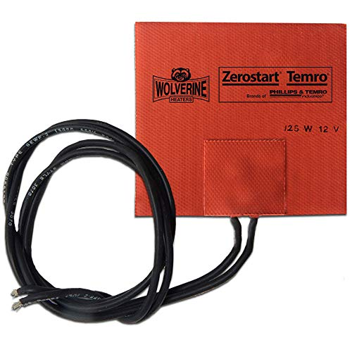 "Zerostart 3400052 Silicone Pad Small Reservoir and Hydraulic Fluid Heater, 4"" x 4"" | 12 Volts | 125 Watts"