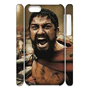 HOPPYS Sparta 300 Phone 3D Case For Iphone 5C [Pattern-4]