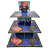 Video Game Cupcake Stand & Pick Kit, Gaming Party Supplies, Decorations, Birthdays, Cake Decorations, 3 Tier Cardboard