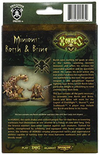 Privateer Press - Hordes - Minion: Lesser Warlock Rorsh & Brine Model Kit 4