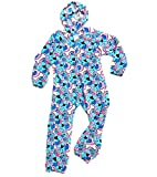 Confetti and Friends Girl's Fuzzy Plush One Piece Jumpsuit - Blue Dog - 10/12