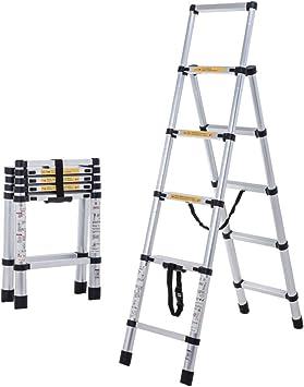 DD Escalera Retráctil Aleación Aluminio Gruesa Multifuncional Plegable/Elevación Escalera Raspa Arenque 1.45+1.7M: Amazon.es: Bricolaje y herramientas