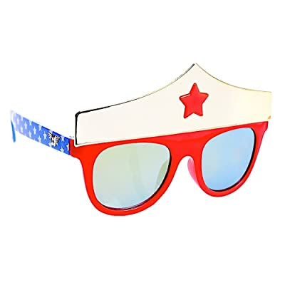 Sun-Staches Costume Sunglasses Lil' Characters Wonder Woman Crown Party Favors UV400: Toys & Games