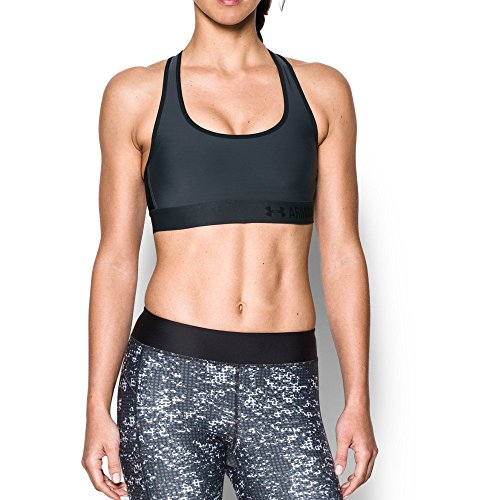 Under Armour Women's Armour Crossback Mid, Stealth Gray/Black, X-Large