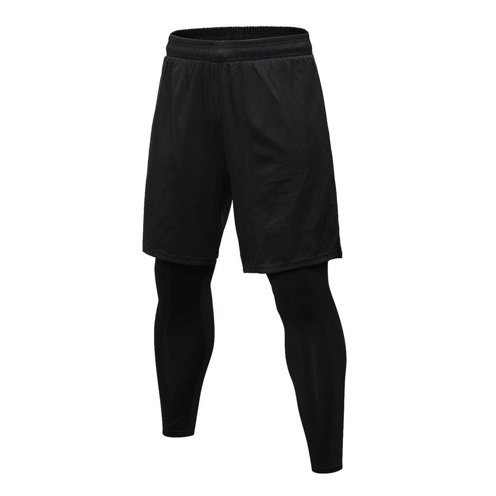 Bmeigo Mens Fake Pants, Fitness Sports Leisure Running Shorts Trousers 2in1 Guangzhou Bmeigo Co. Ltd