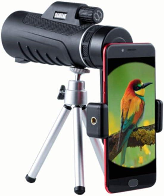 GXYAS - Telescopio monocular Ajustable para cámara fotográfica, telescopio sin Infrarrojos, visión Nocturna con trípode para Smartphone, Apto para Caza de pájaros montañeros