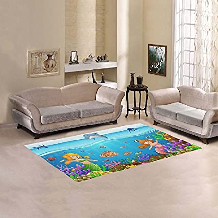 51glHEJHK1L._SS450_ 50+ Mermaid Themed Area Rugs