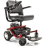 LITERIDER Envy GP162 Electric Travel Powerchair Golden Technologies Red