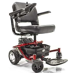 LITERIDER Envy GP162 Electric Travel Powerchair Golden Technologies Red