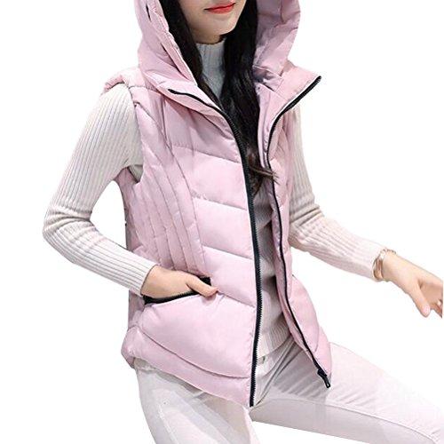ヨーグルト甲虫フックZhhlinyuan Winter Short Style Down Vest Female Korean Style Clip Hood ファッション 美しい for Ladiess