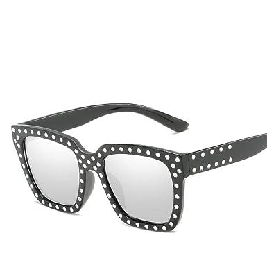 58768aeeaeca Oversized Rectangular Sunglasses With Rivet, Retro Polarized Classic  Designer Outdoor UV400-Purple Protection Men's