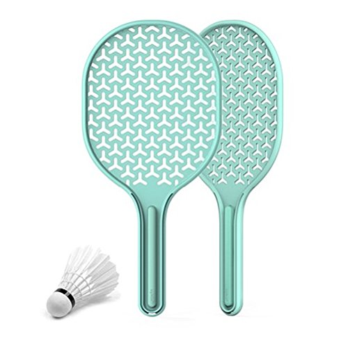 - Aplum Padminton(Ping Pong+Badminton) For Outdoor Camping Office Include Racket(2EA), Shuttlecock(1EA), Pouch(1EA), Strap(2EA) (Mint)