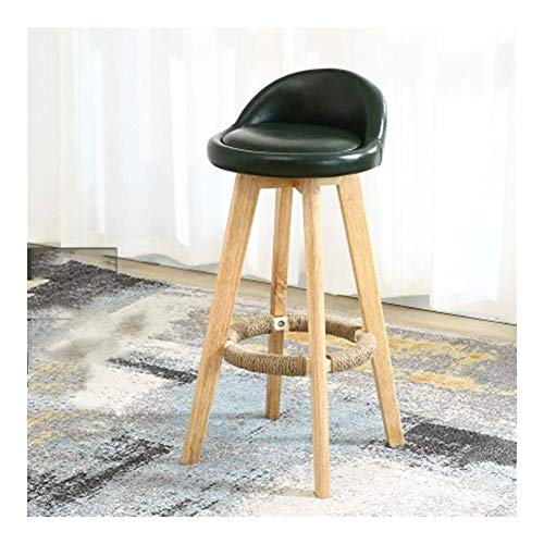 Retro bar stool Bar Stool Footrest Wooden Modern Casual Bar Chair For Breakfast Restaurant Cafe Dinner Oil Wax Bar Chair Wooden Backrest Simple Chair Of Living Room Decoration Breakfast Bar Counter Ki