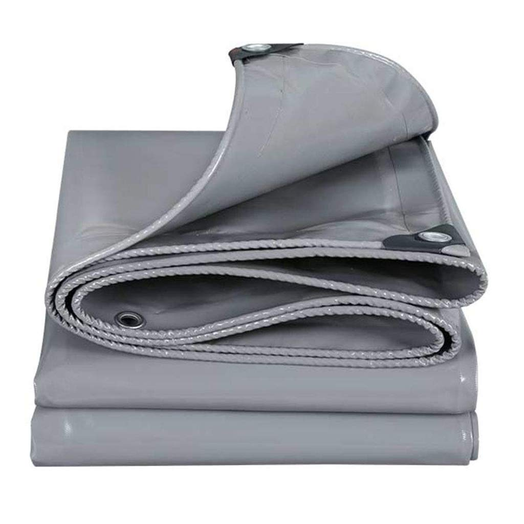 ターポリン アイレット付き日焼け止め防水シート防水シェッドクロス日よけ、500g /m²のグレーの防水ターポリン (Size : 2*3m) B07SF5YN17  2*3m