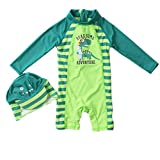 Lovely childrens swimwear One Piece UV Protection Swimsuit With Hat and Cloak