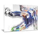 Designart Soccer Big Kick Metal Wall Art - MT2574 - 40x30