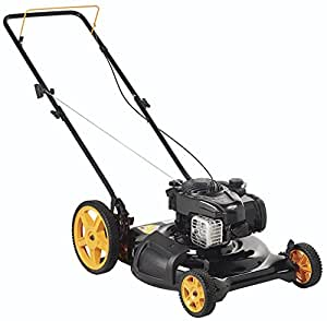 Poulan Pro 961120131 PR500N21SH Briggs 500ex Side Discharge/Mulch 2-in-1 Hi-Wheel Push Mower in 21-Inch Deck, 12-inch wheels