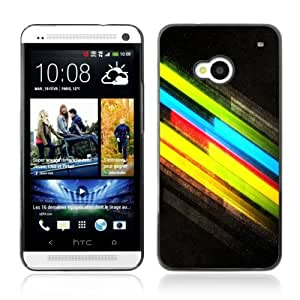 Designer Depo Hard Protection Case for HTC One M7 / Cool Colors