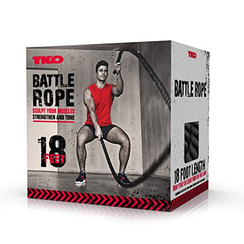 TKO EXTREME Battle Rope For Intense Workout 18 Foot by TKO