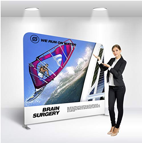 Trade Show Display - Tension Fabric Banner - 10ft Straight (Single Sided) - Tradeshow Display Banner Backdrop - Trade Show Booth - Tension Display Fabric 10'